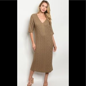 ❤️taupe sweater dress